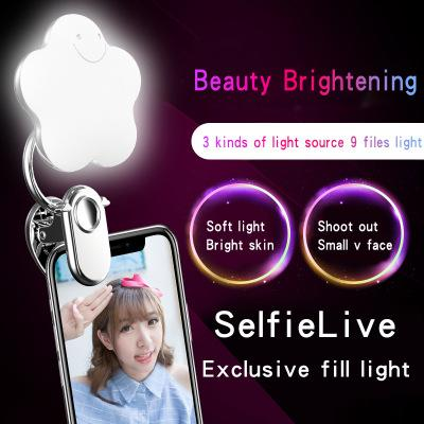 NEW for Mobile Phone Led Fill lens Flash Selfie Ring Light for Mobile Cell Phone free shipping