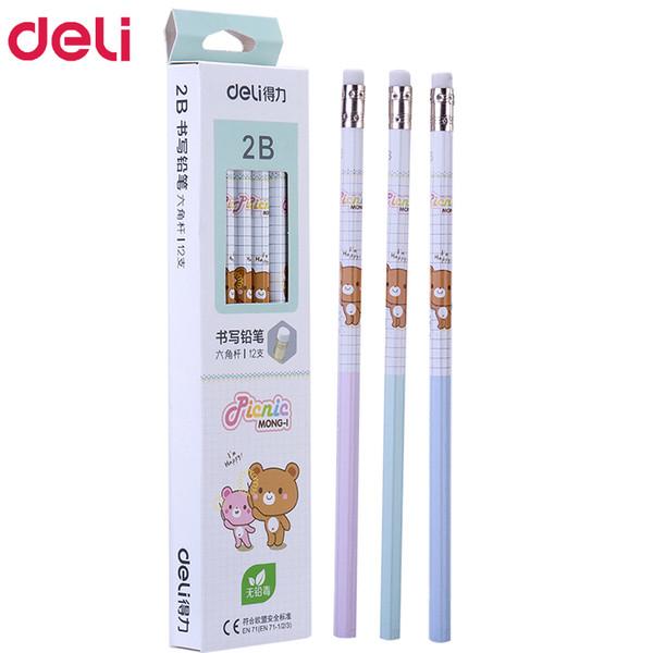 72pcs kawaii wood pencils 2B HB cute rilakkuma pencil with erasers high quality pencil for school kids writing stationery gift