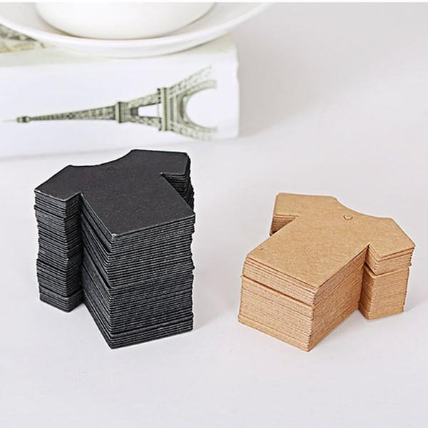 Blank T-shirt Shape Paper Tag 6x5cm Clothing Hang Tag Garment Printed Tag DIY Gift Label Price Tags Print QW9254