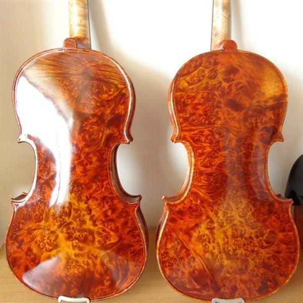 Fish scales pine violin 4/4 handmade solid wood violin gold light natural pattern violin child adult stringed instrument free shipping