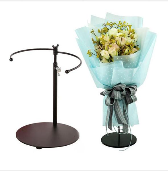 San Valentino rose Bouquet Bracket flower Espositore per fiori in ferro Altezza regolabile Accessori per la stabilità del negozio di fiori Accessori per l'apertura