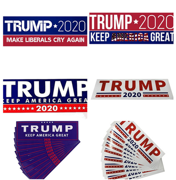 best selling HOT Donald Trump 2020 Car Stickers 7.6*22.9cm Bumper Sticker Keep Make America Great Decal for Car Styling Vehicle Paster 3 New Styles