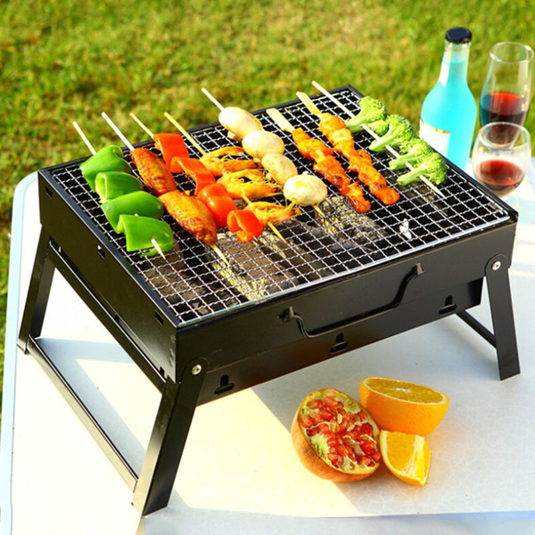 Outdoor Portable BBQ Grills Burner Oven for 3-5 Person Garden Charcoal Barbeque Patio Party Cooking Foldable Picnic