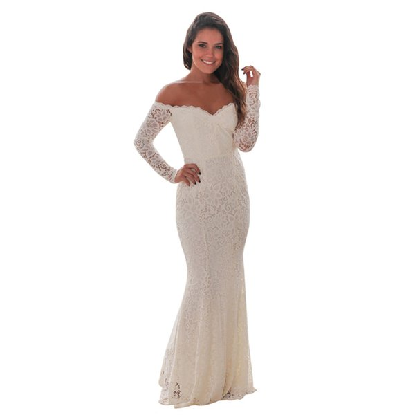 Cheap Many Colors Trumpet Mermaid Party Dresses Sexy Long Sleeve Hollow Bateau Prom Dresses Mermaid Party Dresses Ball Gown