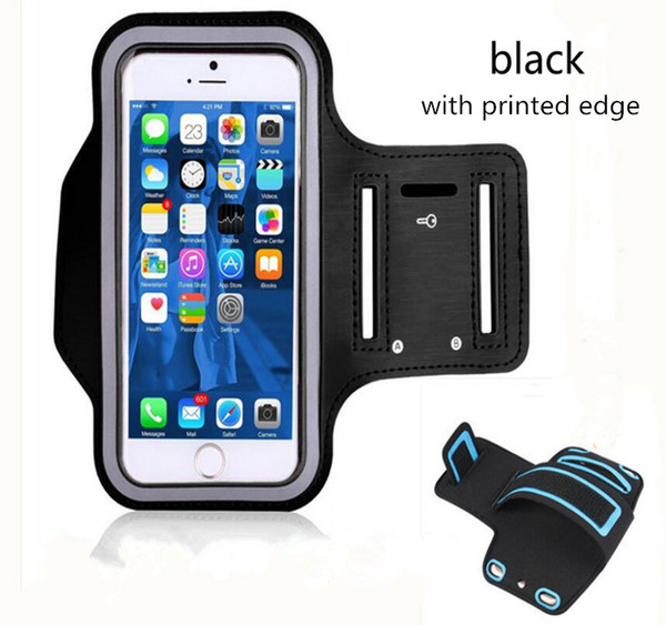 For iPhone XR XS MAX samsung s10plus Waterproof Sports Running Armband Case Workout Armband bag Pouch Cellphone case Arm Bag with OPP Bag