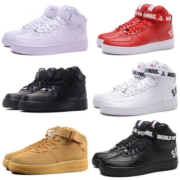 Hot Sale High Quality Forces I one Men Women Running Shoes Unisex Massage high Leisure Shoes skateboarding shoes size 36-46