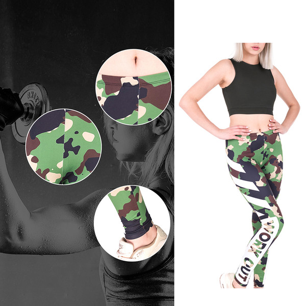 Kadın Moda 3D Dijital Çiçek Baskı Kalça Lift Up Tasarım Spor Pantolon Elastik Spor Tayt Skinny Pantolon