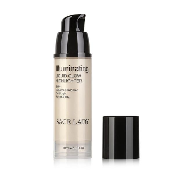 Factory Direct High Gloss Lightening 30ML Face Lip Body Professional Liquid Highlighter Shimmer Bronzer Illuminator Makeup Base Gel Glow