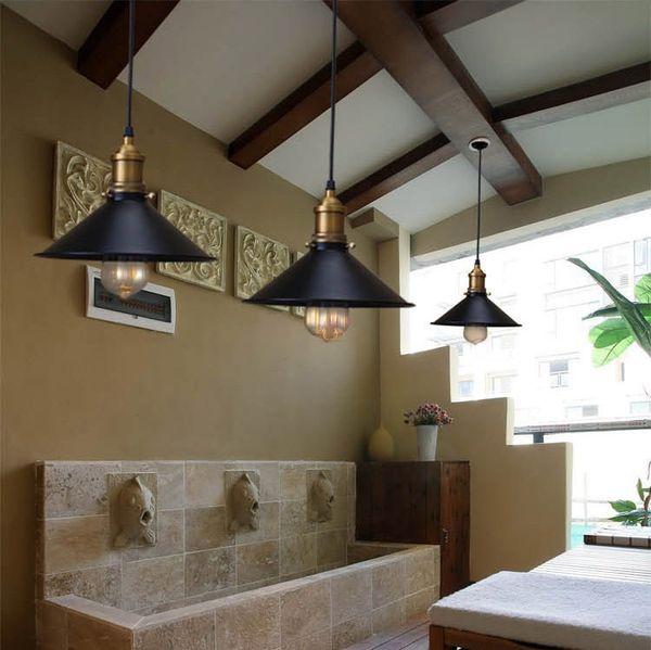 Vintage Industrial Pendant Light Retro Ceiling Lamp Nordic Iron Lampshade  Loft Edison Lamp For Dining Room Lamp Restaurant Bar Pull Down Pendant  Light ...