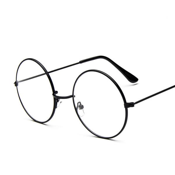 Cadre en verre rond rétro classique pour cadre en métal lentille claire cercle lunettes de vue lunettes hommes femmes lunettes optiques