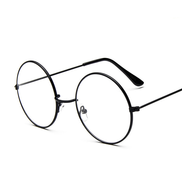 Classic Retro Round Glass Frame for Metal Frame Clear Lens Circle Spectacle Eye Glasses Women Men Optical Eyewear