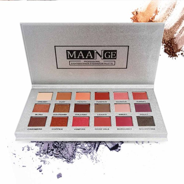 18Color Palette Make up Palette Matte Shimmer Pigmented Eye Shadow Powder Shimmer Glitter Eye Shadow Powder Matt Eyeshadow MA210