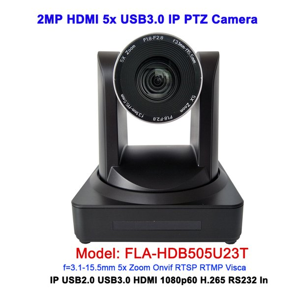 Remote control 1080P 50/60fps Wide angle 83.7 degree 5x optical zoom USB 3.0 ptz ip camera for video conferencing