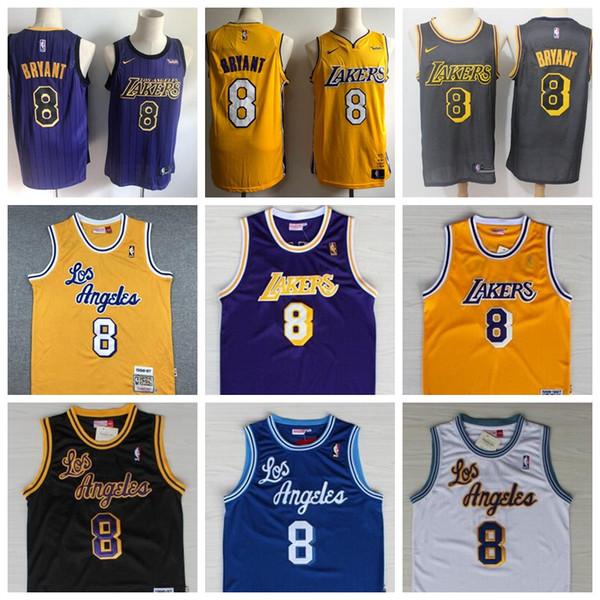 2020 Men Youth Los Angeles Lakers Kobe 8 Bryant City Edition
