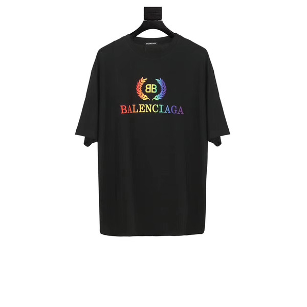 2019 SS New Arrival High Quality Luxuries Brands Designers Clothing BB Men Women T-Shirts Black Multicolor Tees Embroidery Light Jersey XS-M