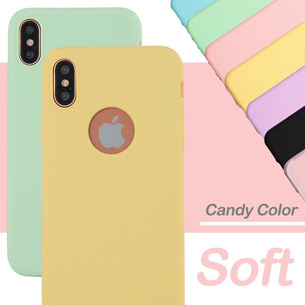 Конфеты Цвет Чехол Для iPhone XS Max XR XS 6 6 S 7 8 Plus Всего Тела Мягкий ТПУ Защитный Обычный Телефон Задняя Крышка Чехлы Подарок