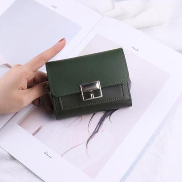 Casual Short Waterproof Simple Coin Purse Multifunctional Organizer Travel Ladies Mini Women Wallet Fashion Flip PU Leather