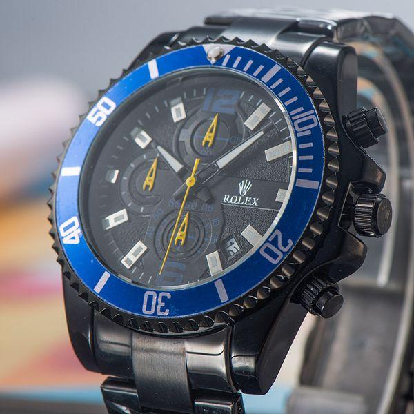 Top quality brand designer men watches Original imported quartz movement stainless steel Wristwatch luxury Full-featured watch