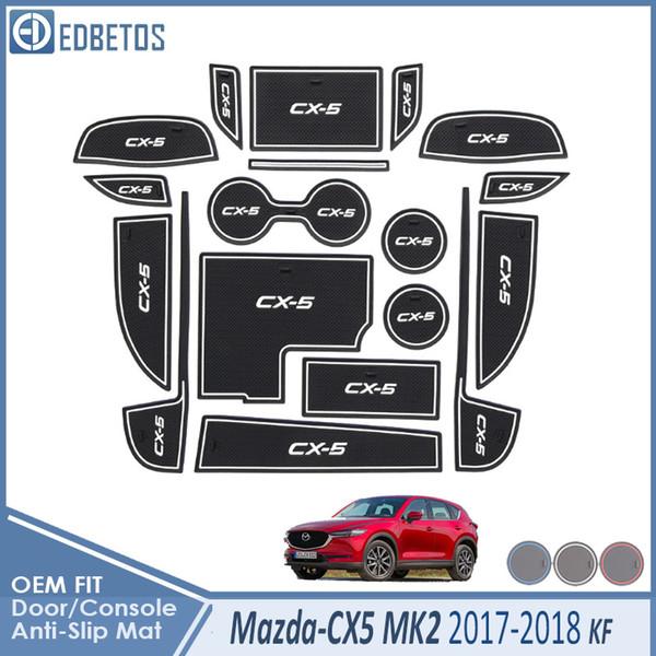 Anti-sujo Pad Para CX5 2017 2018 2019 2 KF CX5 CX 5 Acessórios Porta sulco Portão slot Anti-Slip Mat Car Interio