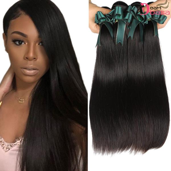 Brazilian Straight Remy Hair Peruanisches Menschenhaar Bündelt 3 oder 4 Bündel Brazilian Human Virgin Hair-Extension Glattes Haar