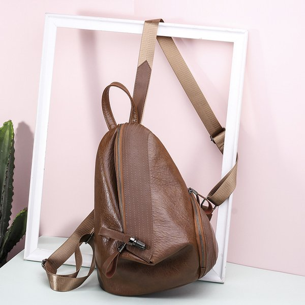 Vintage Casual Shopping Women Backpack Student School Rucksack Bags Small Lady Travel Bookbags High Quality PU Leather Backpacks