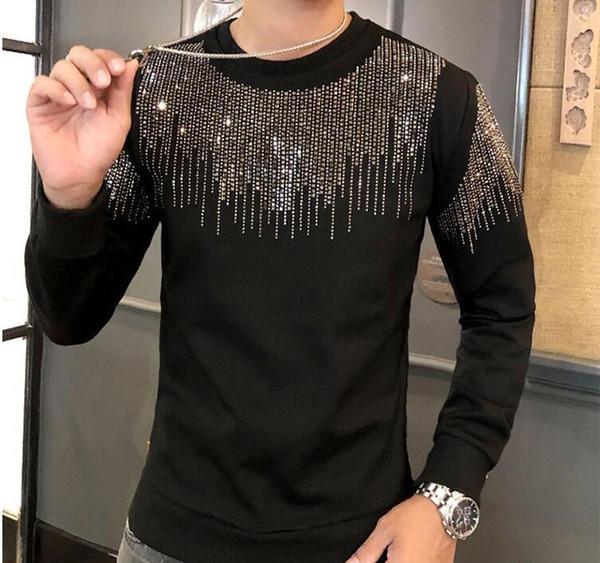 Горячие бурения Мужские толстовки Модельер свитер мужчин высокого качества вскользь фуфайки 04