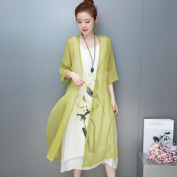 Floral Wrap 3/4 Ärmel Midi X-Line-Kleid