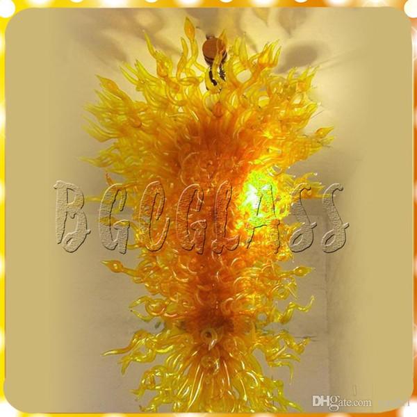 large gold modern pendant livingroom art deco 100% mouth blown borosilicate luxury hand blown glass chandelier light for sale