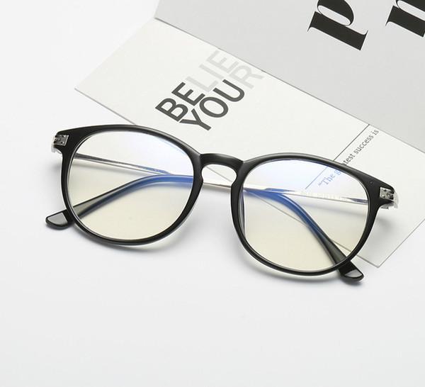 Anti-radiação óculos de armação miopia anti-azul luz do telefone móvel proteção do computador olho nenhum grau plana plana espelho 8616