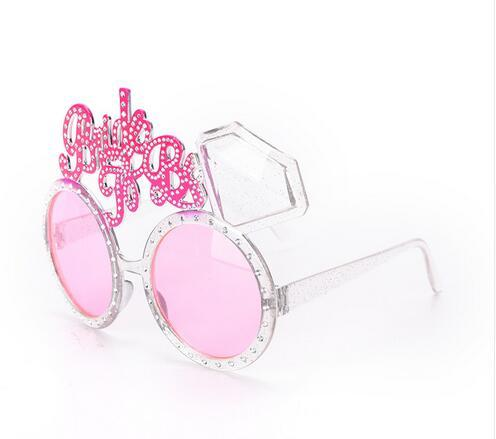 15 x 10cm Bride To Be Glasses Pink Diamond Ring Shower Products Bride Sunglasses Eye Decoration Bachelorette Hen Party Supplies
