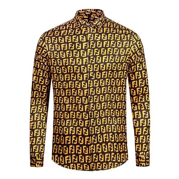 La migliore camicia di marca di moda di lusso degli uomini più venduti camicia di marca di moda di design di lusso degli uomini camicia a maniche lunghe a maniche lunghe di bellezza M-2XL