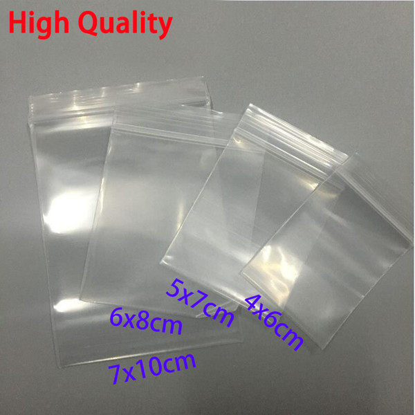 100pcs Thick Transparent Small Zip lock Plastic Bags Baggies Ziplock Zip Zipped Lock Reclosable Clear Poly Bag Food Storage Bag C18112801