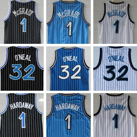 best selling High-Quality Shaquille 32 O'Neal Jersey Penny 1 Hardaway Jerseys Tracy 1 McGrady Jerseys Stitched College Shirts Mens Vince 15 Carter Shirts