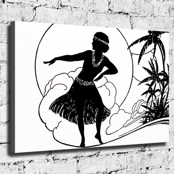 Femme dansante, décor à la maison HD imprimée art moderne, peinture sur toile (sans cadre / encadrée)