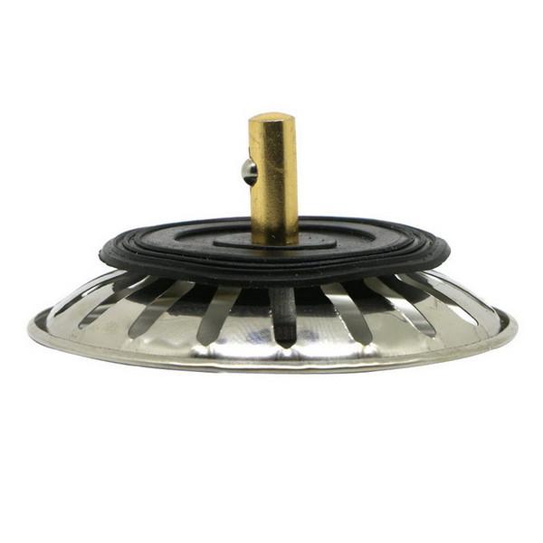 1PC 8CM Stainless Steel Sink Brass Strainer Waste Plug Drain Stopper Filter Basket Cook Kitchen Tool