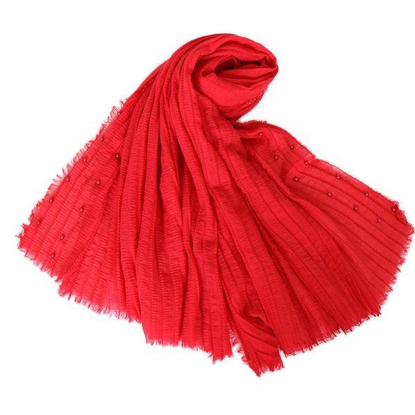 stoles cotton linen scarfs muslim hijab head cover bandana mujer pearl plain arab womens head cape shawls 135g hijabs shawls