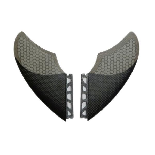 Neues Design Surfing Surfboard Fins Kielflosse für FUTURE Box Twin Fin Set 2 Stück pro Set Material: Carbon Fiberglas, Wabe