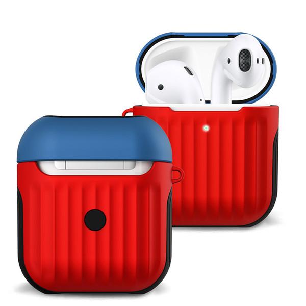 Estuche de auriculares para Apple Airpods 1 Estuche de silicona para Airpods 2 Cubierta de la caja de carga por cable Bolsas a prueba de golpes para vainas de aire 1 2 bolsas