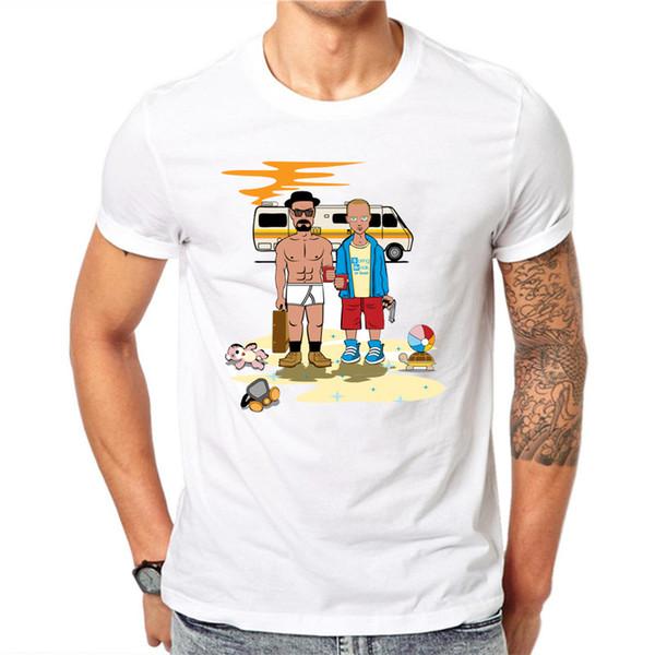 Magliette da uomo T-Shirt retrò TV Mr White Heisenberg Jessie Pinkman Magliette a maniche corte con stampa divertente