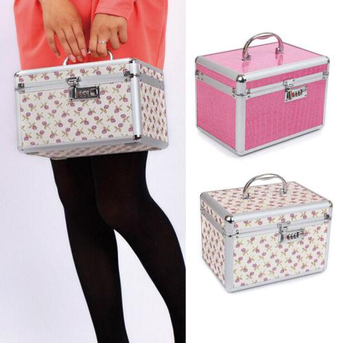 Practical Portable Password Lock Multifunction Professional Makeup Box Cosmetic Organizer Bags Case New Fashionable