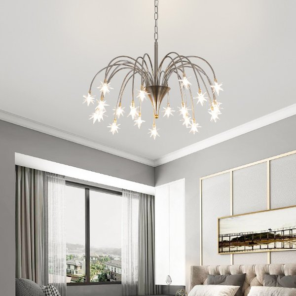 Man Tianxing Restaurant Chandelier Personality Creative Bar Table Lighting Simple G4 Chandeliers Spark Ball Branch Lights