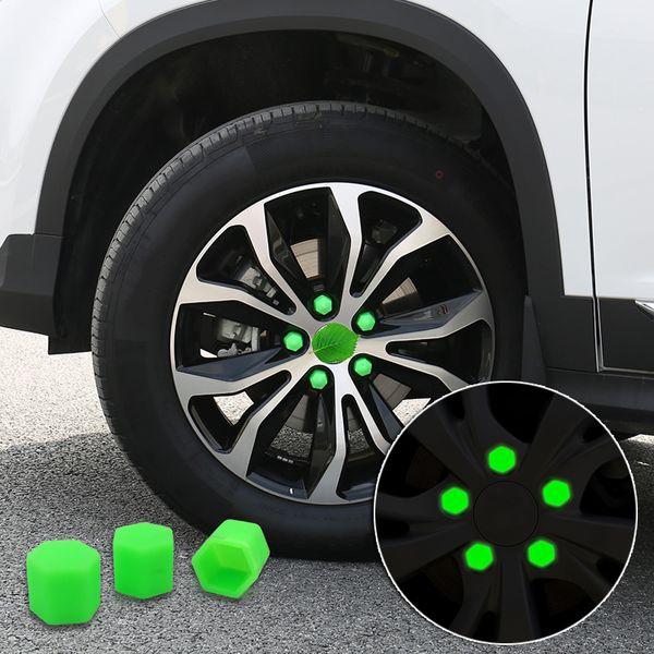 20pcs 17mm Reifen Auto Fahrzeuge Reifen-Rad-Screw Bolt Caps Luminous Reifen-Rad-Mutter Schraube Car Styling-Staub-Beweis-Schutz