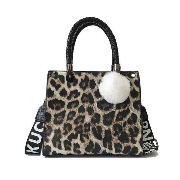 Leopard Print Fashion Handbag Women Nice Winter Crossbody Bags Lady Shoulder Hand Bag Handbags Fashion Retro Sexy