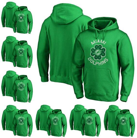 Minnesota Miami Angeles City York Men Giants Jets Chiefs Rams Dolphins Vikings Pro Line by Fanatics Green Collection Pullover Hoodie