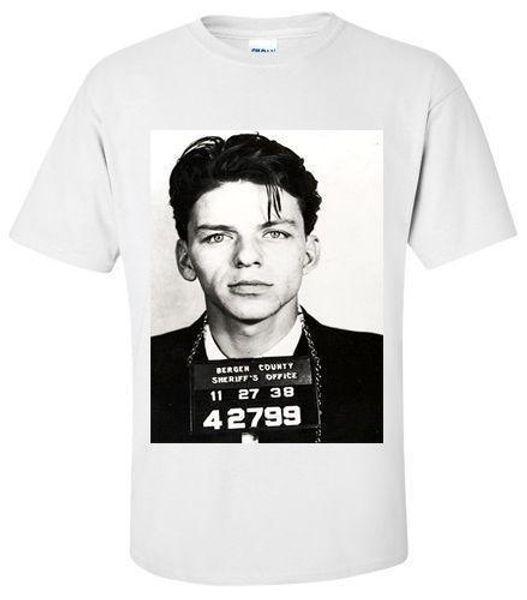 T-Shirt SHIRT FRANK SINATRA MUG SHOT T-Shirt SMALL, MEDIUM, LARGE, XL