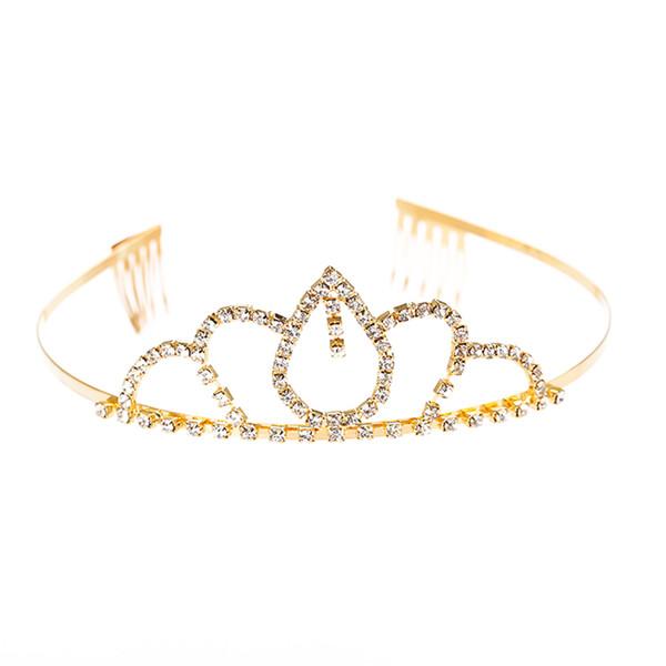 1 unid Novia Corona de Cristal en forma de Gota Elegante Accesorios para el Cabello Banda para el Cabello Sombreros Fiesta de Cumpleaños Boda