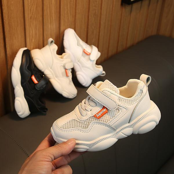 Nova Moda urso de malha inferior respirável tênis menino casual running shoes meninas shoes kids shoes frete grátis