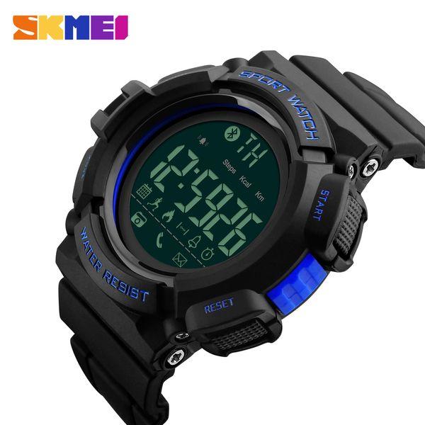 Hombres Relojes inteligentes con Bluetooth SKMEI Reloj para hombre Calorías podómetro Reloj deportivo Reloj Recordatorio de mensaje de llamada Smartwatch