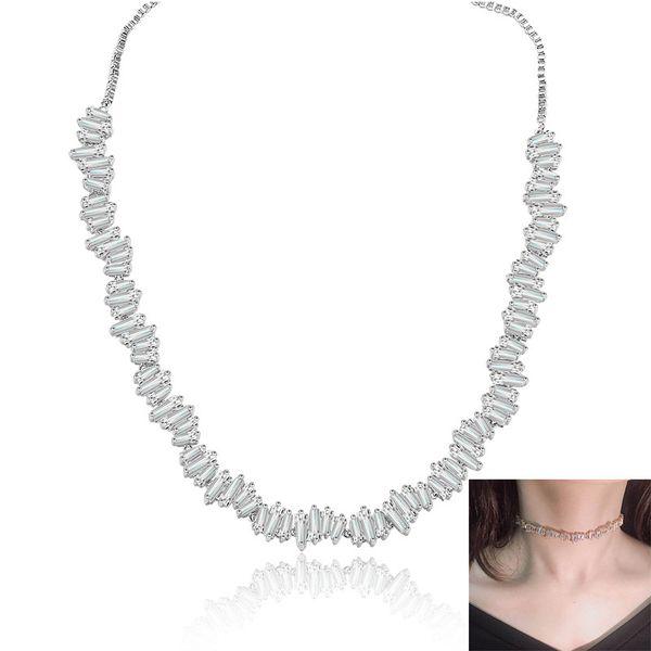 La nueva manera extraible del regalo creativo del collar de cristal de diamante circón collar chapado en oro 18K collar de la mujer de la boda Pattery Navidad