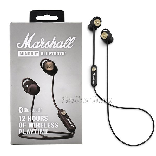 top popular Marshall Minor II Bluetooth Headphone TWS Wireless Headphones DJ Perfect Sound gaming headset Magnetic Pause Function Sports Earphone 2019